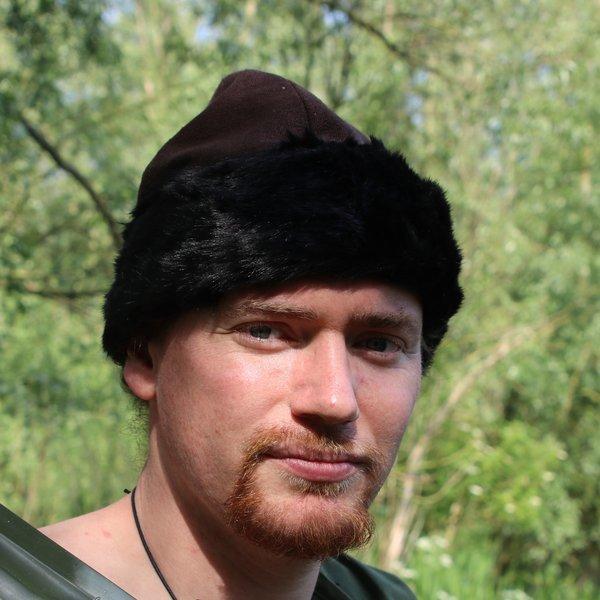 Cappello Birka vichingo, marrone