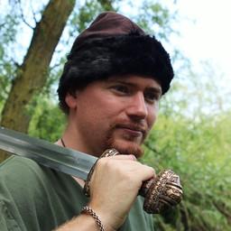 Czapka Wikingów Birka, brązowa