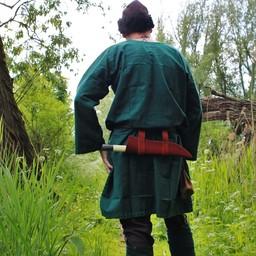 Historische tuniek met authentieke zoom, groen