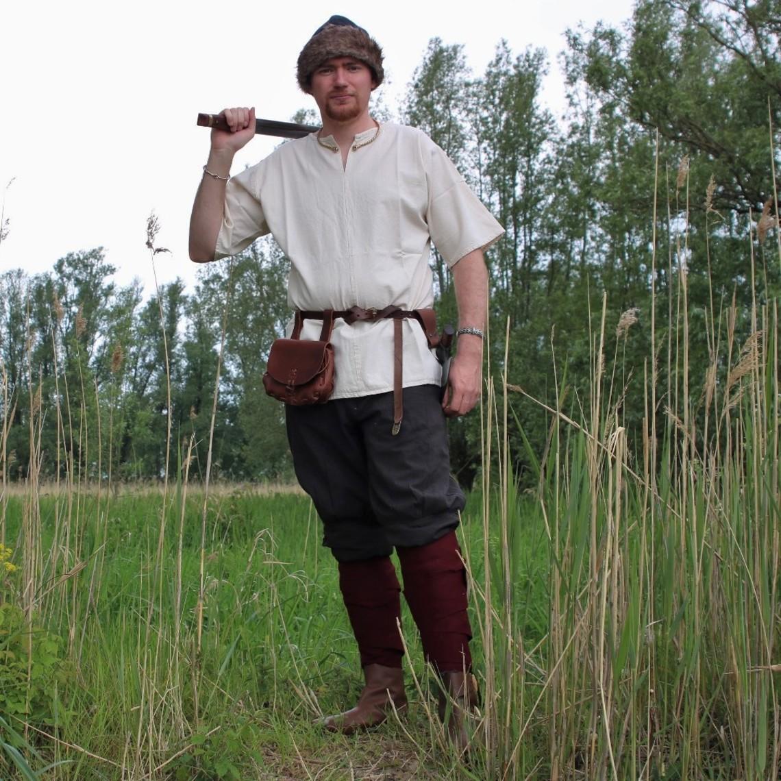Leonardo Carbone Spodnie Viking Dublin, brązowe