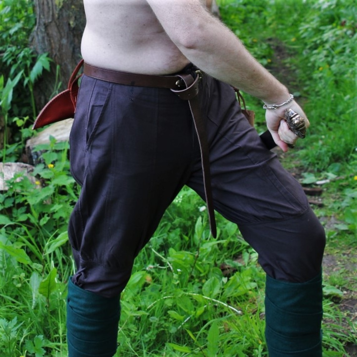 Leonardo Carbone Pantaloni vichinghi di Dublino, marrone