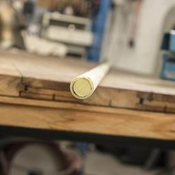 Noyau en fibre de verre, 180 x 1,5 cm, creux