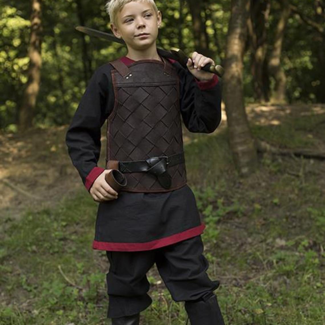 Epic Armoury RFB Skórzana zbroja Viking, brązowa