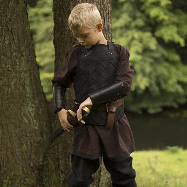 Epic Armoury RFB Leather Viking pansar, svart