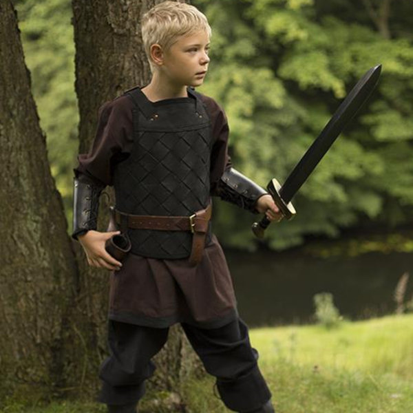 Epic Armoury RFB Leather Viking armor, nero