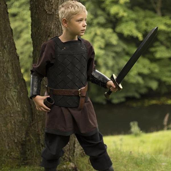 Epic Armoury RFB Leder Wikinger Rüstung, schwarz