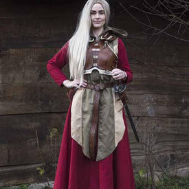 Epic Armoury Kvinde Armor Assassin, brun / beige