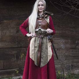 Epic Armoury Kvinna Armor Assassin, brun / beige