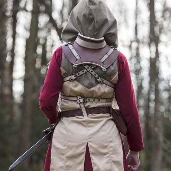 Epic Armoury Kvinde Armor Rogue, brun / beige