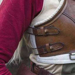 Armadura femenina pícaro, marrón / beige