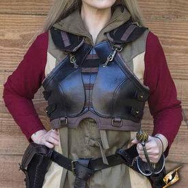Epic Armoury Damespantser Assassin, zwart/bruin