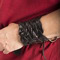 Epic Armoury Gevlochten leren armband, zwart