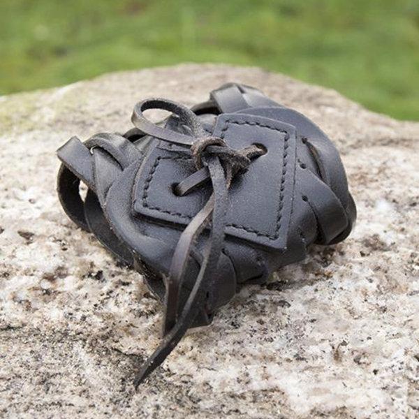 Epic Armoury Bransoletka skórzana tkana, czarna