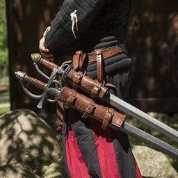 Double holder for LARP weapons, black