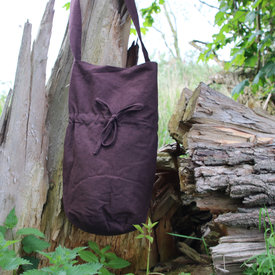 Textile shoulder bag, brown
