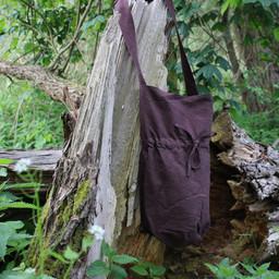Textile shoulder bag, brown