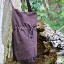 Textielen schoudertas, bruin