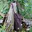 Bolso bandolera textil, marrón