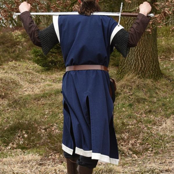 Sur manteau médiéval Rodrick, bleu naturel
