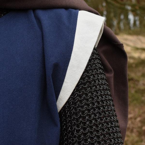 Soprabito medievale Rodrick, blu-naturale