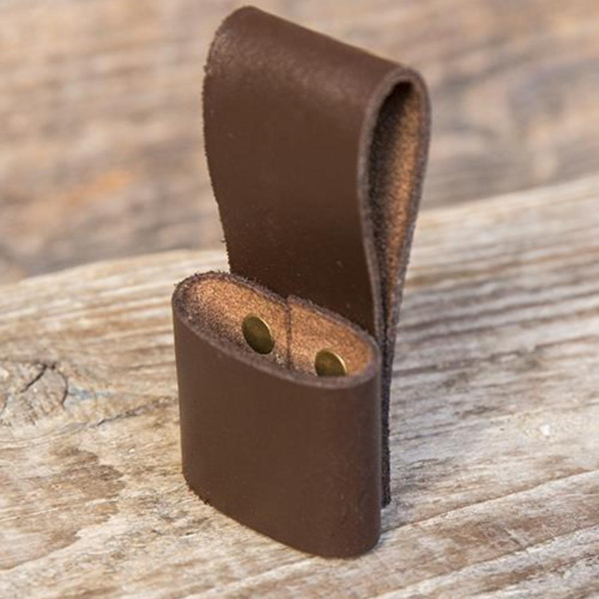 Belt holder for 1 LARP throwing knife, brown