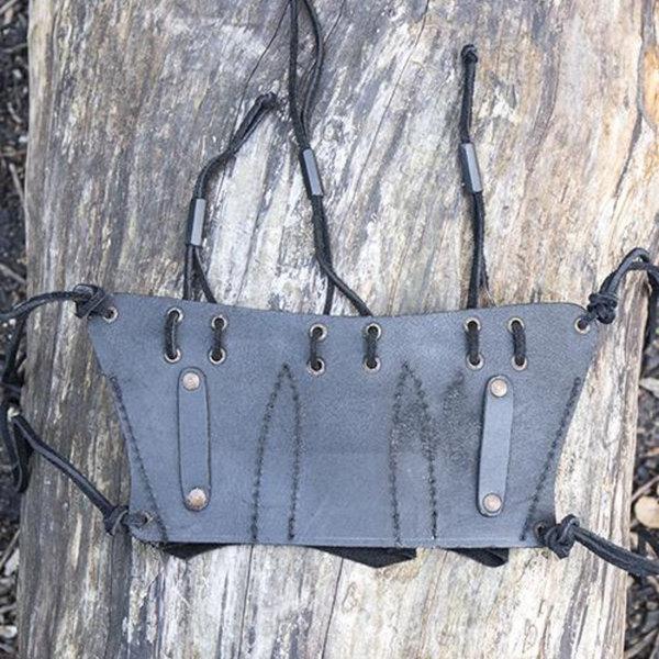 Epic Armoury Cinturón para 3 cuchillos de lanzar LARP, negro.