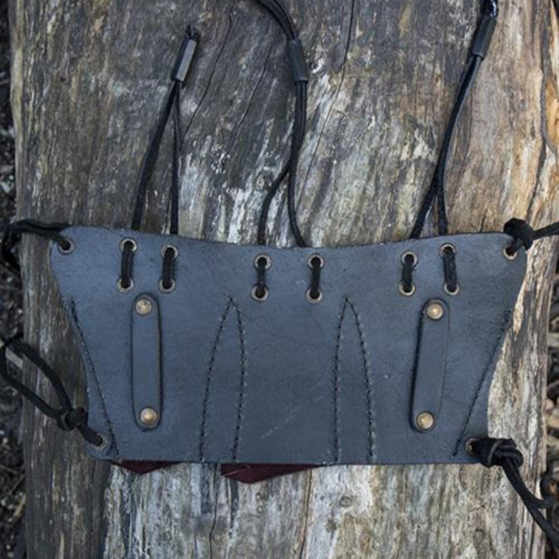Epic Armoury Porte-ceinture pour 3 couteaux de lancer, brun