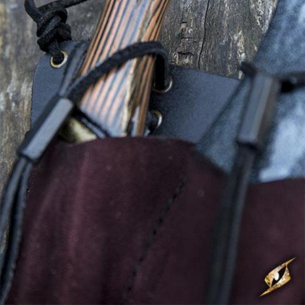 Epic Armoury Bælteholder til 3 LARP kaste knive, brun