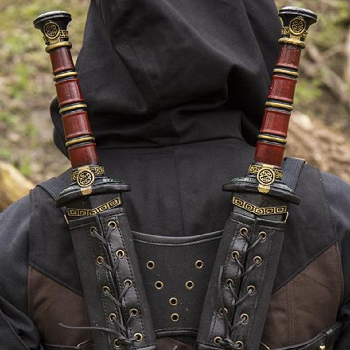 Epic Armoury RFB Dubbele LARP zwaardhouder, zwart