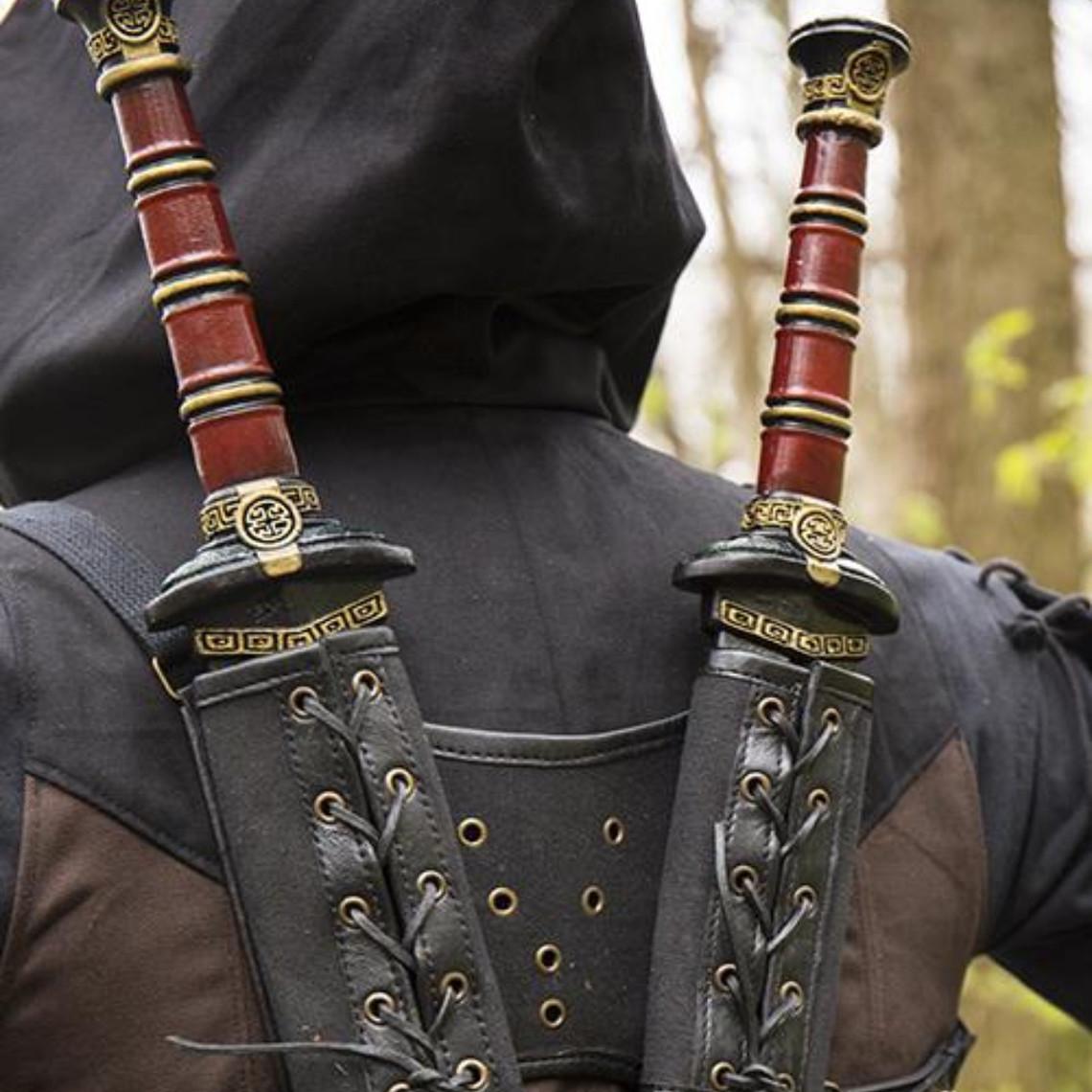 Epic Armoury RFB Double LARP Schwerthalter, schwarz
