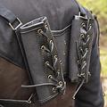 Epic Armoury RFB Podwójny uchwyt na miecz LARP, czarny