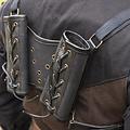 Epic Armoury Porta espadas RFB Doble LARP, negro