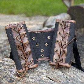 Epic Armoury RFB Double LARP svärdshållare, brun-svart