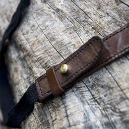 RFB Podwójny uchwyt na miecz LARP, brązowo-czarny
