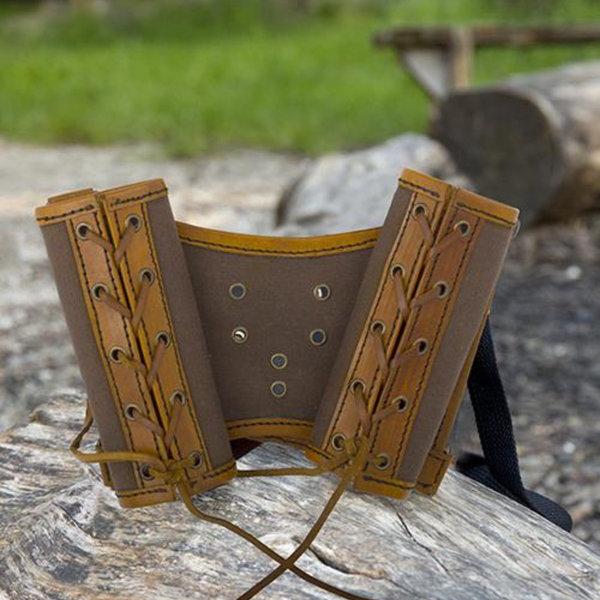 Epic Armoury Porta espadas RFB doble LARP, marrón