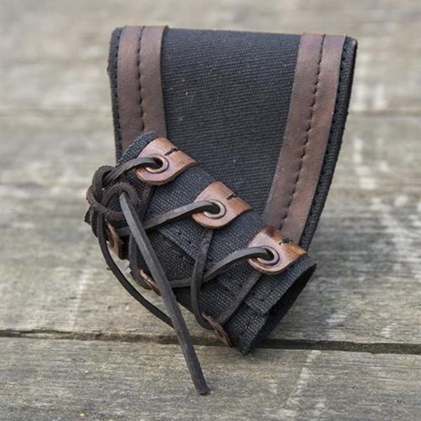 Epic Armoury RFB LARP dolk-zwaardhouder, zwart-bruin