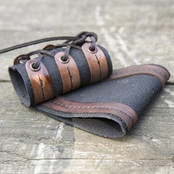 Epic Armoury Soporte para daga-espada RFB LARP, negro-marrón