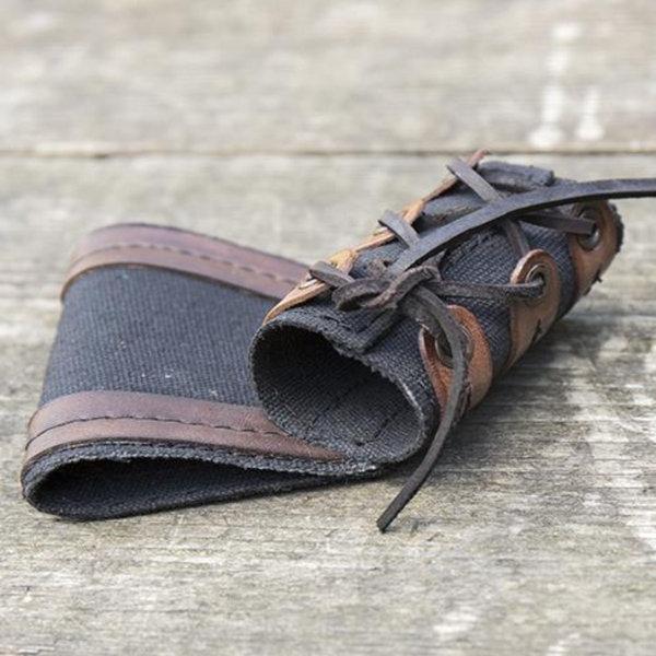 Epic Armoury RFB LARP, porte-épée de poignard, brun noir