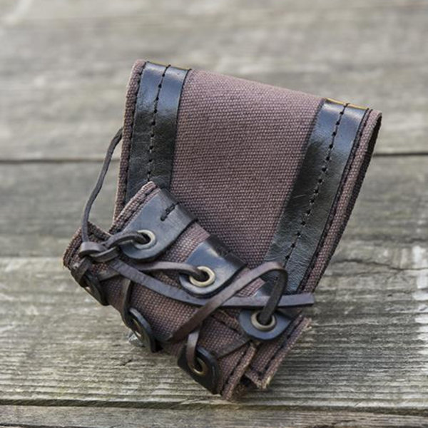 Epic Armoury Portaherramientas de daga RFB LARP, marrón-negro