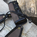 Epic Armoury Porta LARP RFB due anelli, nero-marrone