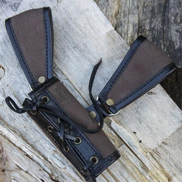 Epic Armoury RFB LARP holder two loops, brown-black