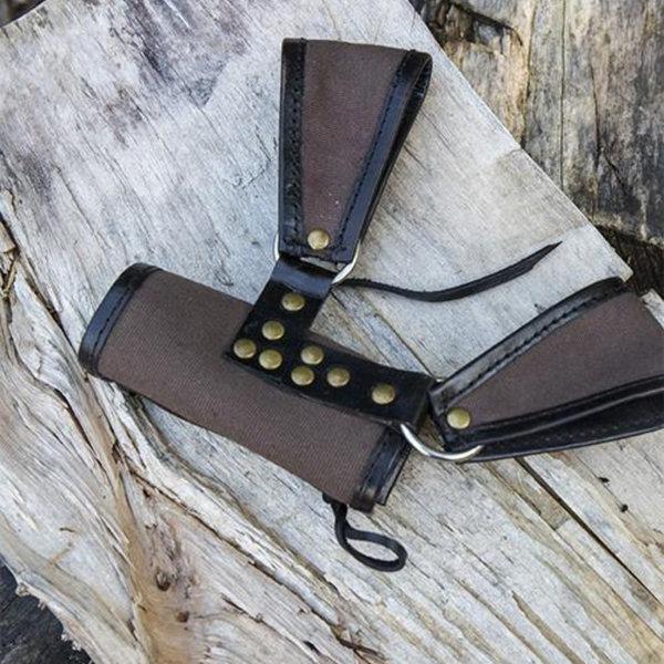 Epic Armoury Soporte RFB LARP de dos bucles, marrón-negro