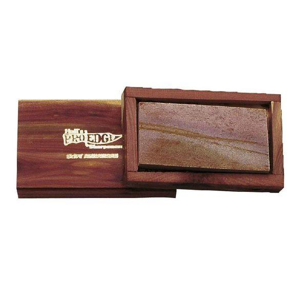 Pierre à aiguiser Arkansas originale, boîte en bois