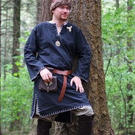 Tunika med autentisk beklædning, sort