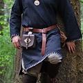 Leonardo Carbone Belt with Thor's hammer, brown