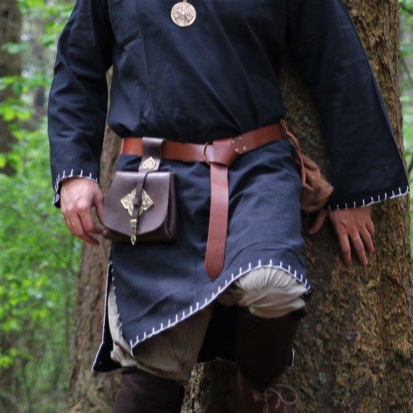 Leonardo Carbone Bælte med Thor's hammer, brun
