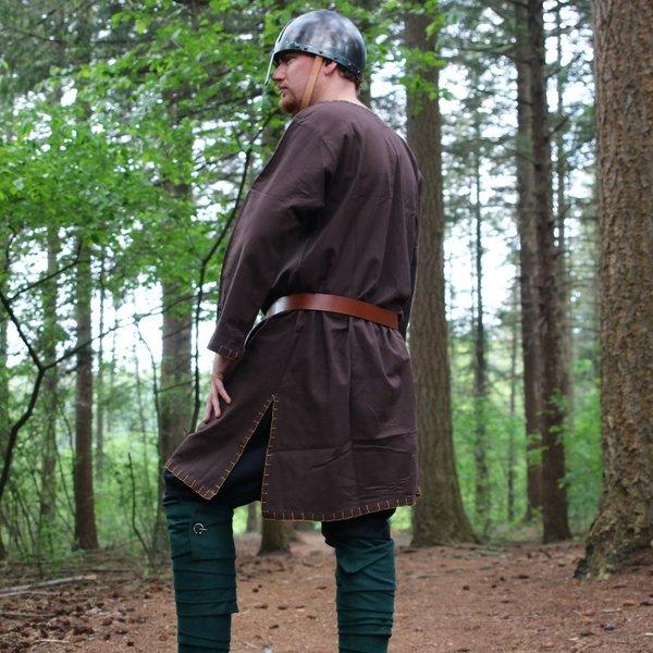 Leonardo Carbone Historisk tunika med autentisk foring, mørk brun