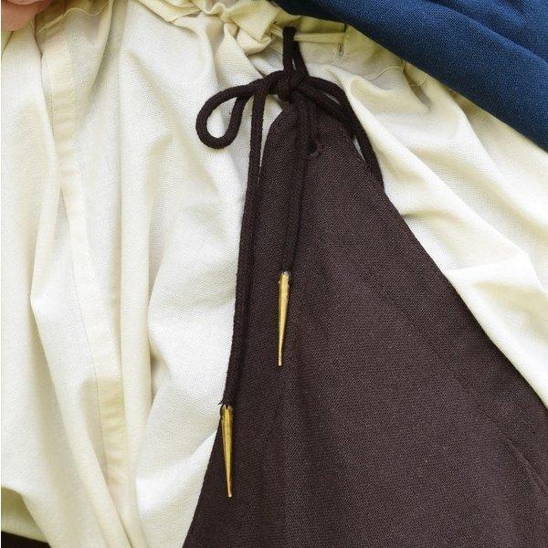 Chausses médiévales à lacets, marron