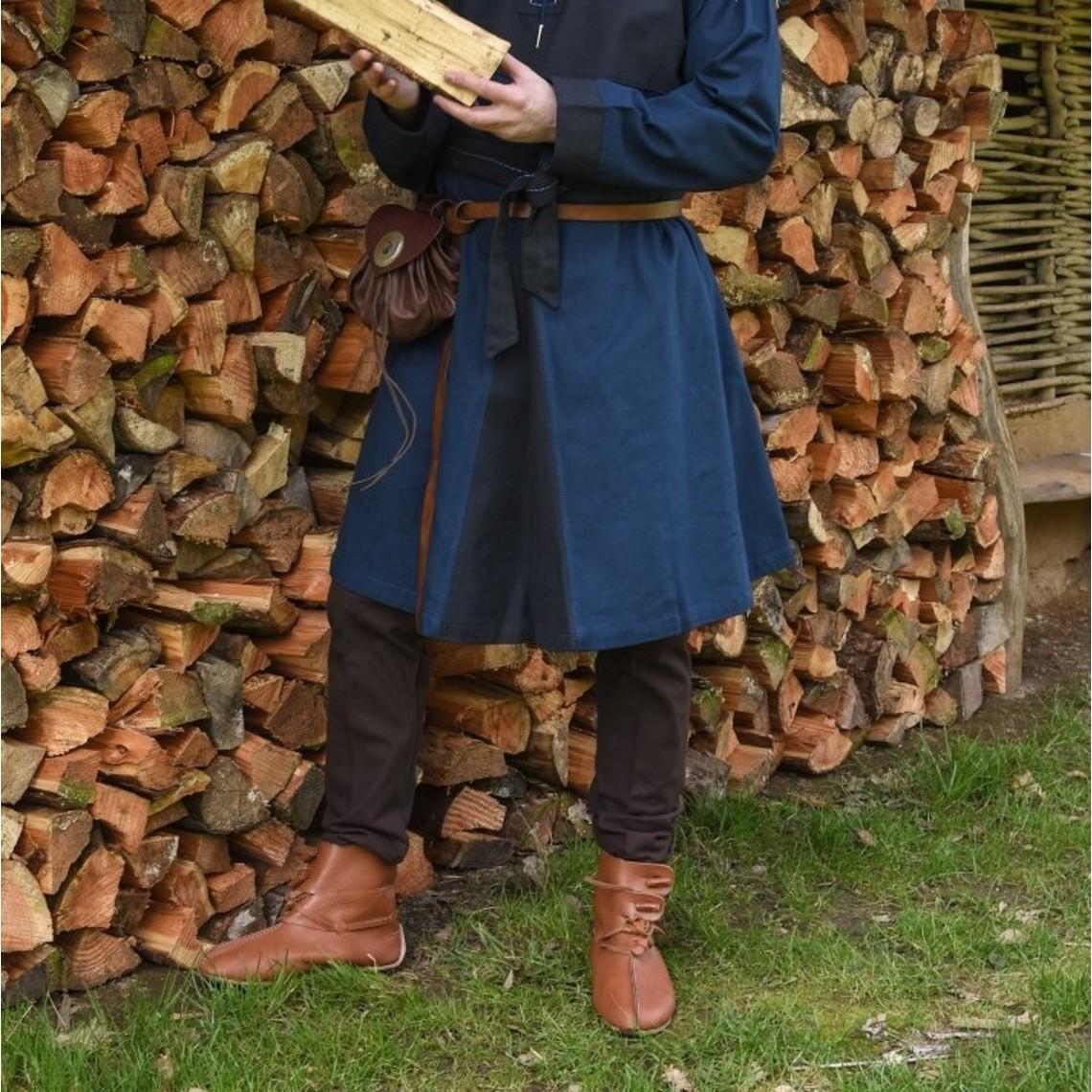 Chausses medievali con lacci, marrone
