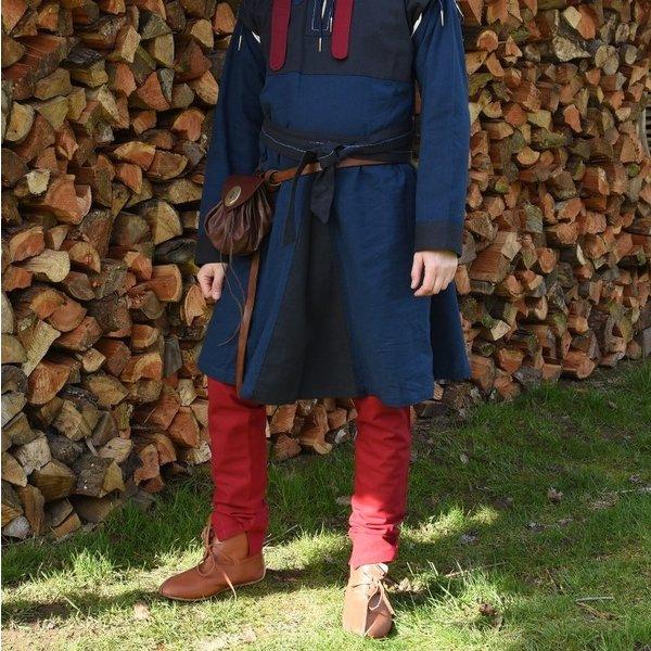 Chausses médiévales à lacets, rouges